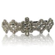 Bridal or Bridesmaid Frozen Snowflake Encrusted Diamond Rhinestone Headband Adjustable Non-slip Comfortable for Wedding Day