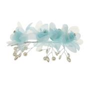 Phenovo Bridal Rose Flower Rhinestone Crystal Prom Wedding Headband Tiara - 1