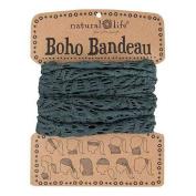 Natural Life Crochet Boho Bandeau Charcoal Grey