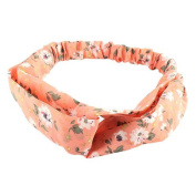 Polytree Women's Floral Elastic Headbands Twist Head Wrap Headscarf