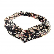 Polytree Women's Floral Elastic Headbands Twist Head Wrap Headscarf