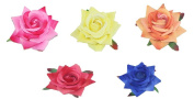 Coco love 5 pcs Rose Hair Clip and Hair Pin Hat Decoration Flower