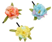 Coco love 3 Pcs Girl's Hair Clip and Hair Pin Hat Decoration Flower