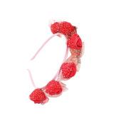 Kids Rose Red hair hoop Hair Wreath Floral Crown Garland for Wedding Festival