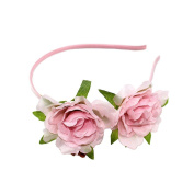 Coco love Camellia Headband Flower Hair Hoop Party Wedding Headpiece for Women Girls