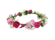 ACVIP Women's Boho Style Flowers Wreath Wedding Party Ceremony Headband