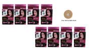 Pack of 8 Vcare Shampoo Hair Colour Black - 25ml + Free Vetiver Bath Scrub