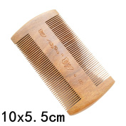 AMStore Handmade Sandalwood Anti-Static Double Massage Scalp Comb and Moustache Hair Brush