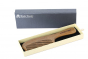 Master Panda Handmade Natural Green Sandalwood Hair Comb and Beard Comb with Natural Wood Aromatic Scent MP1901C