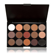 Kingfansion 15 Colours Women Cosmetic Makeup Neutral Nudes Warm Eyeshadow Palette