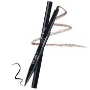 Eyebrow Pencil Eyeliner Hey Beauty Waterproof Automatic Eyebrow Pencil Eyeliner 2 in 1 Makeup Cosmetic Tool, Dark Brown-3#