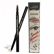 Pro Waterproof Automatic Womens Eyebrow Pencil with Eyebrow Brush Colour Brown