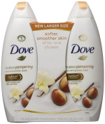 Dove Purely Pampering Body Wash, Shea Butter Warm Vanilla 650ml, Twin Pack