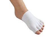 AAATS 1 Pair Gel-lined Compression Toe Separating Socks Dry Forefoot Cracked Skin Moisturising Protector