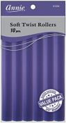 Annie Soft Twist Rollers, Purple, 18cm , 10 Count