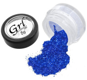 Grl Cosmetics Cosmetic Glitter Makeup for Face, Eyes, Lips, Nails and Body - GL32 Blue Pzazz, 5 Gramme Jar