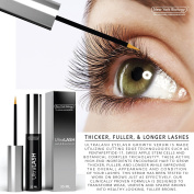 Eyelash Growth Serum 3.5ml - Dermatologist Tested, Eye Irritation Tested, and Allergy Tested, Made in USA cGMP - Enhancing Formula for Thicker, Fuller and Longer Eyelashes and Brows.