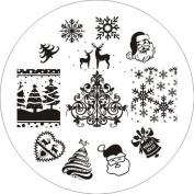 Born Pretty Christmas Xmas Theme Nail Art Stamping Image Plate 01