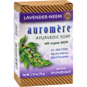 Auromere Bar Soap - Ayurvedic Lavender with Organic Neem - 80ml - All Skin Types