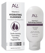 PHL Naturals Vitamin C Hydrating Facial Cleanser Antioxidant Lotion with Aloe Vera Rose Water and Licorice is Gentle and Fragrance-Free for All Skin Types