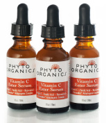Phyto Organics Youth Serum - Vitamin C, Ferulic Acid, & Resveratrol - Guaranteed to Brighten, Smooth Fine Lines, Reduce Sun Damage, & Stimulate Collagen Production - Organic Ingredients, 30ml