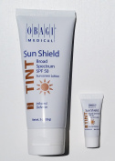 Obagi Sun Shield Broad Spectrum SPF 50 **TINTED WARM** with Infrared Defence 90ml with FREE travel size tube