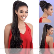 PD-281HT (Motown Tress) - Futura Fibre Ponytail in DARK BROWN by Oradell International Corporation