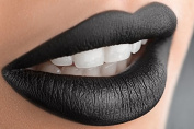 Black Liquid Matte Lipstick, Late Night - A Waterproof Lipstick That Does Not Smudge or Budge