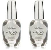(2 Pack) Sally Hansen Nail Growth Miracle, Clear, 0.45 Fluid Ounce