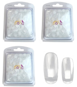 Beauticom® USA 300pcs Replacment *CLEAR* Nail Tips for Nail Trainer Flexible Hand (Quantity