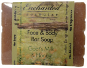 Face & Body Bar Soap with Goat's Milk & Honey