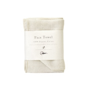 Nawrap 100% Organic Cotton, Face Towel, Ivory