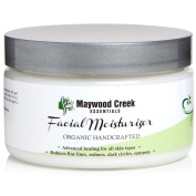 Organic Handcrafted Facial Moisturiser - Anti Ageing Formula Reduces Fine Lines, Redness, Dark Circles & Signs of Ageing - Best Quality 100% Organic & Natural Moisturising Cream - No Scent!