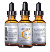 DOUBLE SIZED (60ml) BEST VITAMIN C SERUM (20%) With Pure Vegan Hyaluronic Acid Anti Wrinkle, Anti Ageing & Repairs Dark Circles,Fades Age Spots & Sun Damage Vitamin C Super Strength Organic Ingredients