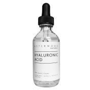 Pure Organic Hyaluronic Acid Serum 60ml - Anti Ageing, Anti Wrinkle - Face Moisturiser for Dry Skin & Fine Lines - Leaves Skin Full & Plump - Asterwood Naturals - 60ml Glass Dropper Bottle