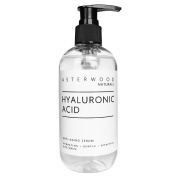 Pure Organic Hyaluronic Acid Serum 240ml - Anti Ageing, Anti Wrinkle - Face Moisturiser for Dry Skin & Fine Lines - Leaves Skin Full & Plump - Asterwood Naturals - 240ml Pump Bottle