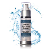 Facial Firming Serum, Hyaluronic Acid Vitamins C for Face, Anti Ageing Cream, Organic Skin Treatment that Activates Collagen for Firmer complexion to Repair and Reduce Wrinkles, Ageless Looking Skin
