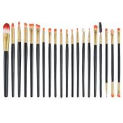 Fashion & Lifestyle Makeup Brush Set - Professional Kabuki Beauty Tools Foundation Blending Blush Contour Concealer Eyeliner Face Powder Cosmetics Brushes Kit, Golden Black