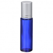 4UGoods Cobalt Blue Glass Roller Bottles 10 ml with Silver Caps