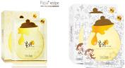 Papa Recipe Bombee Honey Mask Bundle with Natural organic soap - 5 x Honey sheet Masks, 5x Whitening Honey sheet Masks (2016 New), 1 x Organic Handmade Soap