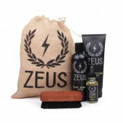 Zeus Deluxe Beard Grooming Kit for Men - Beard Care Gift Set to Soften Hairs and Prevent Itchiness and Dandruff (Scent