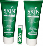 Skin Golf Sunscreen (2) & (1) Skin Golf Lip Balm Total 3 items