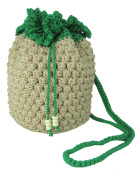 Naree Cute Crochet Bag Pineapple Pattern [Knit Out] - Yellow Red Pink Beige