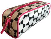 Kate Spade Bow Ribbon Travel Cosmetic Case Bag Black White