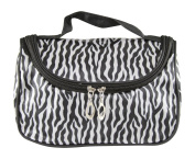 Overfeel Portable Zebra Pattern Lady Makeup Bag Toiletry Cosmetic Storage Organiser for Travel