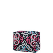Ikat Damask Print NGIL Large Cosmetic Travel Pouch