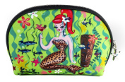 Fluff Leopard Mermaid Cosmetic Bag - Vintage Inspired Pinup