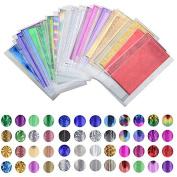48 Sheet 35cm*4cm Mix Colour Transfer Foil Nail Art Star Design Sticker Decal For Polish Care DIY