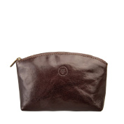 Maxwell Scott® Personalised Luxury Leather Make Up Bag / Cosmetic Case