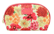 Jacki Design Miss Cherie Top Round Travel Cosmetic Bag - Coral